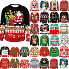 Christmas Unisex Couple Matching Xmas Jumpers Knitted Sweater Pullover Ugly Tops