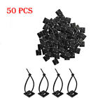 50PCS Cable Clips Self-Adhesive Cord Management Wire Holder Organizer Clamp
