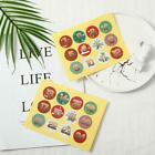 1-24 Number Stickers Christmas Sealing Adhesive Label Paper Stickers Xmas Gifts