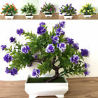 Uk Fake Artificial Potted Rose Flowers Plants In Pot Outdoor Home Garden Decor