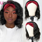 UNice Peruvian Short Bob Headband Wig Body Wave Human Hair Wigs 150% Density US