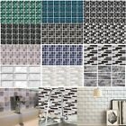 Uk Mosaic Tile Stickers Stick On Bathroom Kitchen Home Wall Decal Self-adhesive