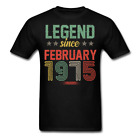 Legend Since February 1975 Retro Birthday Gift funny Unisex Classic T-Shirt