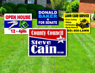 18 x 24 Yard Signs - Custom Design - Full Color - 2 Sided - Stakes Optional