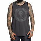 Sullen Men's Badge Of Honor Sleeveless Tank Top Shirt Gray Clothing Apparel