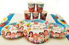 COCOMELON Birthday Party Sets ~ Cups Plates Table Liners Balloons Goody Bags