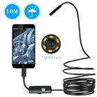 7mm LED Pipe Inspection Video Camera Endoscope Sewerage Drain Snake USB Phone