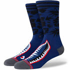 Stance Men's Tropical Warbird Crew Socks Blue Footwear Active Casual Sports G...