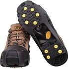 Ice Cleats Crampons 10-Stud Anti Slip Ice Grips for Winter Shoes Boots Spikes