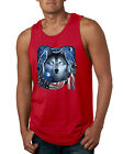 Amrican Flag Patriotic Wolf Dreaming Animals Mens Graphic Tank Top