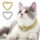 Cat Chain Collars Gold Small Dogs Choke Collar for Training Cat Chain Necklace