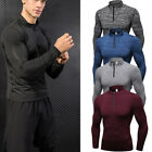 Men's Long Sleeve Shirts Quick Dry Performance 1/4 Zipper Active Top Cycling Gym