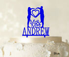 Mr & Mrs Couple Kuchendeckel Personalized Cake Topper Color Option-FUe