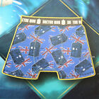 BBC DR Doctor Who Tardis British Flag Elastic Band Mens Boxer Briefs Underwear
