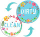 Berrysun Dishwasher Magnet Clean Dirty Sign, Magnet Double Sided Flip Sign with