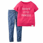 "Carters 3 Months ""Daddy's Princess"" French Terry Top & Leggings Set Baby Girl"