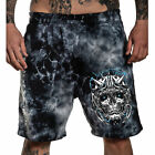 Sullen Men's Lords Fleece Shorts Crystal Wash Black Clothing Apparel Tattoo S...