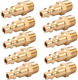 Brass 1/4-Inch NPT Male Industrial Air Hose Quick Connect Adapter,Air Coupler