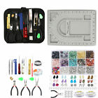 Jewelry Making Supplies Kit Findings Chip Beads Wires Pliers Set Bracelet DIY