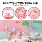 Cute Whale Water Spray Kids Children's Cup Fountain Kettle Cup with Straw 250ml