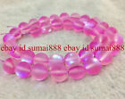 Natural 6/8/10mm Pink Rainbow Moonstone Round Gems Loose Beads 15''