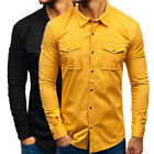 Men Loose Overalls Long Sleeve Military Shirt Multi-pocket SlimCasual OfficeTops