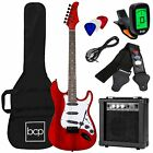 39 Inch Beginner Electric Guitar Kit With Case 10W Amp And Tremolo Bar Multi New