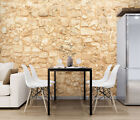 3D Yellow Vintage Stone 19814NA Wallpaper Wall Murals Removable Wallpaper Fay