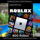 ROBLOX GIFT CARDS - 800, 2000, 4500 ROBUX (INSTANT DELIVERY)