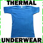 Blue Thermal T-Shirt Underwear. S M L XL XXL Sizes.