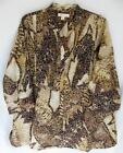 """Coldwater Creek Pintucked """"Jungle Leaves"""" Burnout Tunic"""