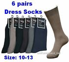 6 pr Men DRESS SOCKS Cotton Blend Casual 10-13 Color L1