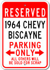 1964 64 CHEVY BISCAYNE Parking Sign