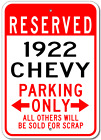 1922 22 CHEVY  Parking Sign