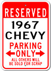1967 67 CHEVY  Parking Sign