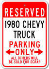 1980 80 CHEVY TRUCK Parking Sign
