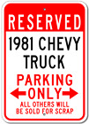 1981 81 CHEVY TRUCK Parking Sign