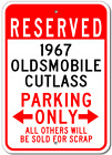 1967 67 OLDSMOBILE CUTLASS Parking Sign
