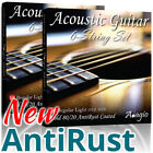 2 Packs of Adagio Gold AntiRust Coated Acoustic Guitar Strings Light Or Medium