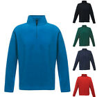REGATTA ZIP NECK MICRO FLEECE TOP - BLACK OR NAVY BLUE - S M L XL XXL