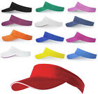 MB SANDWICH SUN VISOR SPORTS GOLF TENNIS HEADBAND CAP HAT - 14 GREAT COLOURS