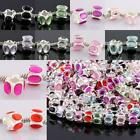 Bulk Acrylic Crystal Rhinestone Prismatic Charm Beads Findings Fit EP Bracelet