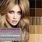 "12"" Clip In Remy Human Hair Extensions Full Head 8 piece - All Colours"