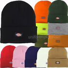 """DICKIES BEANIE HAT 14"""" CUFFED KNIT CAP DOUBLE LAYERED KNIT COLORS W/DICKIES LOGO"""