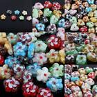 Wholesale Mix-color Murano Lampwork Glass Flower Heart Square Loose Spacer Beads