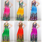 New Sexy women boho summer beach holiday party long Maxi dress US4-14 N002