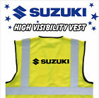 SUZUKI MOTORCYCLE High Visibility Hi Viz HV Vest Yellow - VARIOUS Sizes