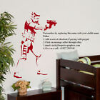LARGE PERSONALISED STAR WARS STORM TROOPER CHILDRENS BEDROOM WALL STICKER DECAL