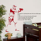 GIANT PERSONALIZED STAR WARS STORM TROOPER CHILDRENS BEDROOM WALL STICKER DECAL