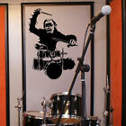 LARGE MUSIC MONKEY DRUM DRUMMER ART BEDROOM WALL MURAL STICKER TRANSFER  DECAL